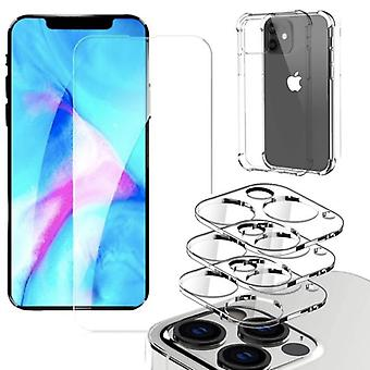 Iphone 13 PRO MAX [5-PACK] Objektivabdeckung, gehärtetes Glas, Silkon Shell