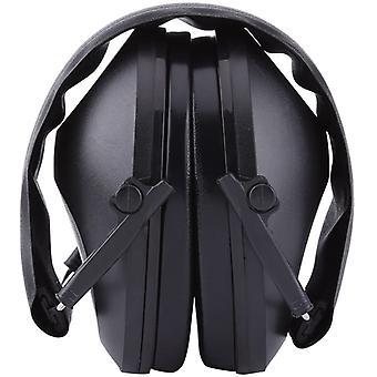 Noise Canceling Headphones Soundproof Foldable Headband Earmuffs Protective Ear Noise Hazard For Industrial Work, Shooting, Hunting (black)