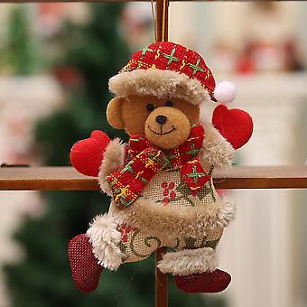 Рождественские украшения Подарок Санта-Клаус Снеговик Дерево Кукла Повесить украшения