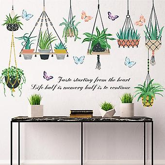 Pot cultuur plant muurstickers stickers woonkamer decor behang