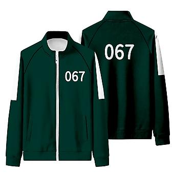 Iwa57 Squid Game Matching Tracksuit With Stand-up Collar And Zip-up Sweatshirt
