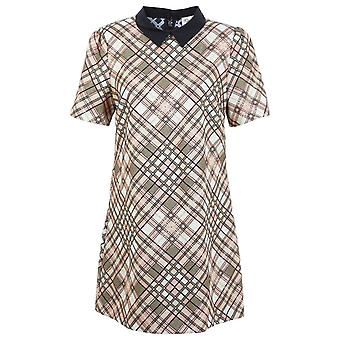 Miss S Check Collar Dress