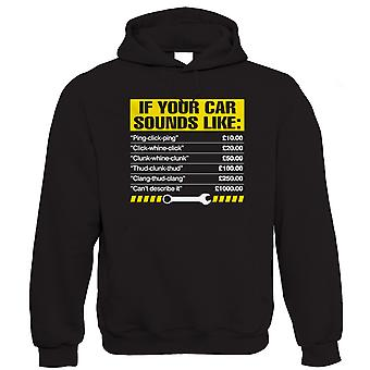 If Your Car Sounds Like, Funny Mechanic Hoodie | Mechanics Garage Automotive Vehicle Technician | Humour Laughter Sarcasm Jokes Messing Comedy | Funny Gift Him Her