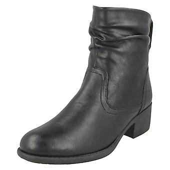 Dames plek op Rouched Ankle Boots F50860
