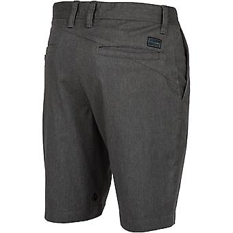 Volcom Frickin Moderne Stretch Chino Shorts in Charcoal Heather