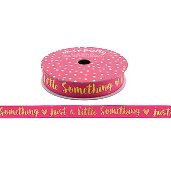 CGB Giftware Oh So Pretty Just A Little Something Gold Glitter Cotton Ribbon (5 Metres)