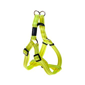 Rogz Utility Bright Reflective Durable Step-In Dog Harness, Yellow Glo