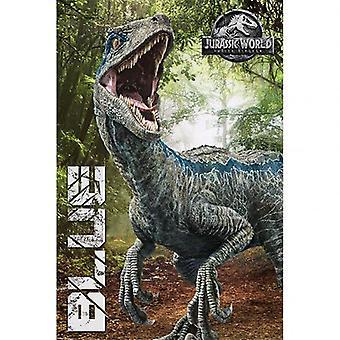 Jurassic World Fallen Kingdom Poster Blue 297