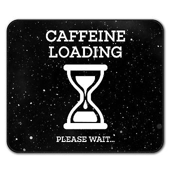 Caffeine Loading  Non-Slip Mouse Mat Pad 24cm x 20cm | Wellcoda