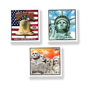 Patriotic Stamp Cutouts (3/pkg)