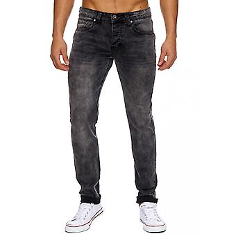 Men's stretch jeans jogging demin jeans elastic slim fit pants Stonewashed used