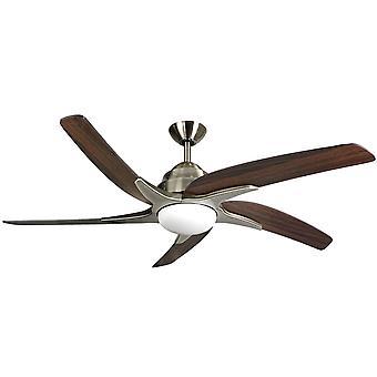 Viper de ventilateur de plafond et laiton avec lumière 112 cm/44