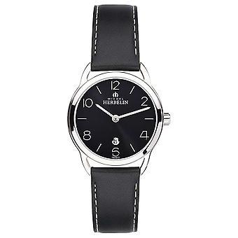 Michel Herbelin Womens Equinox Black Strap 16977/14N Watch