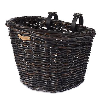 Basil Darcy L front bicycle basket (rattan)