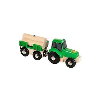 BRIO Tractor with Load 33799 for Wooden Train Set
