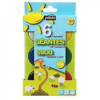 Pebeo Maxi Gouache Cake Paint Set of 6 Colours