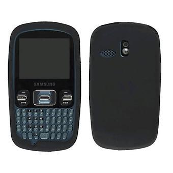 Draadloze oplossingen siliconen Gel beschermhoes voor Samsung SCH-R350 (zwart)