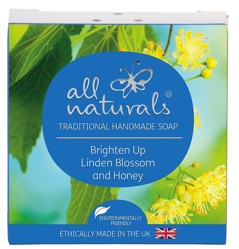 All Naturals Organic Soap Bar Linden Blossom and Honey 100g.
