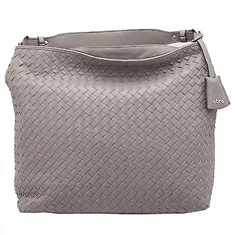 Abro Grey Woven Leather Shoulder Handbag