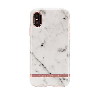 Richmond & Finch shells voor IPhone X/XS-wit marmer-Rose