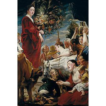 Et tilbud til Ceres, Jacob Jordaens, 60x40cm