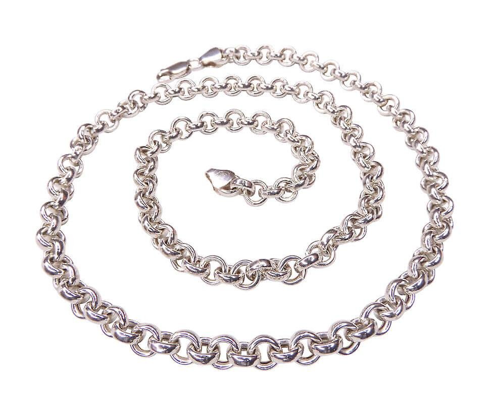 Silver necklace with switching