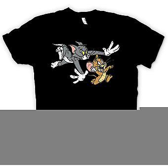 महिला टी शर्ट - टॉम और जेरी - कार्टून रेट्रो क्लासिक महिलाओं