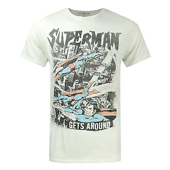 Junk Food Superman Gets Around Men's T-Shirt Beige
