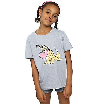 Disney Girls Pluto Love Heart T-Shirt
