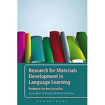 Onderzoek voor de ontwikkeling van de materialen in het leren van talen: bewijs voor beste praktijken