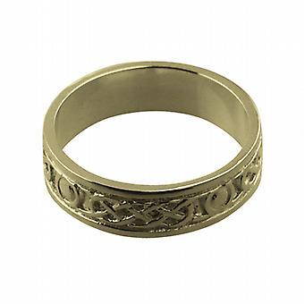 18ct goud 6mm Keltische trouwring grootte Z