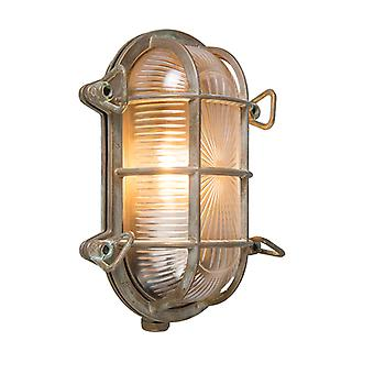 QAZQA Wall and ceiling light brown 23 / 16.5 cm IP44 - Nautica 1 oval