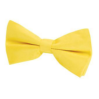 Dobell Mens gul fluga Dupion Satin-känsla före bundet