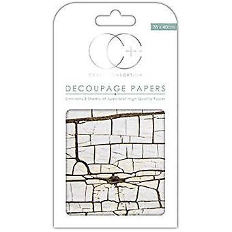 Craft Consortium Cracked Wood Decoupage Papers