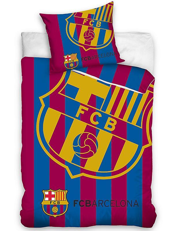 FC Barcelona Corner Logo Single Duvet Cover Set