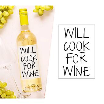 Will Cook Para Wine Wine Etiqueta de Botella