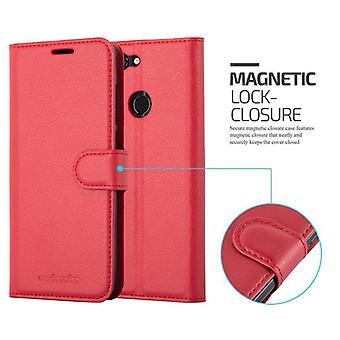 Cadorabo tapauksessa ZTE Blade V9 tapauksessa kansi - matkapuhelin tapauksessa magneettilukko, seistä toiminto ja korttiosasto - Case Cover suojakotelo tapauksessa kirja taitto tyyli