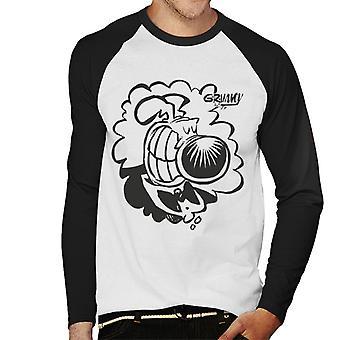 Grimmy Tuxedo grin Herre baseball langærmet T-shirt