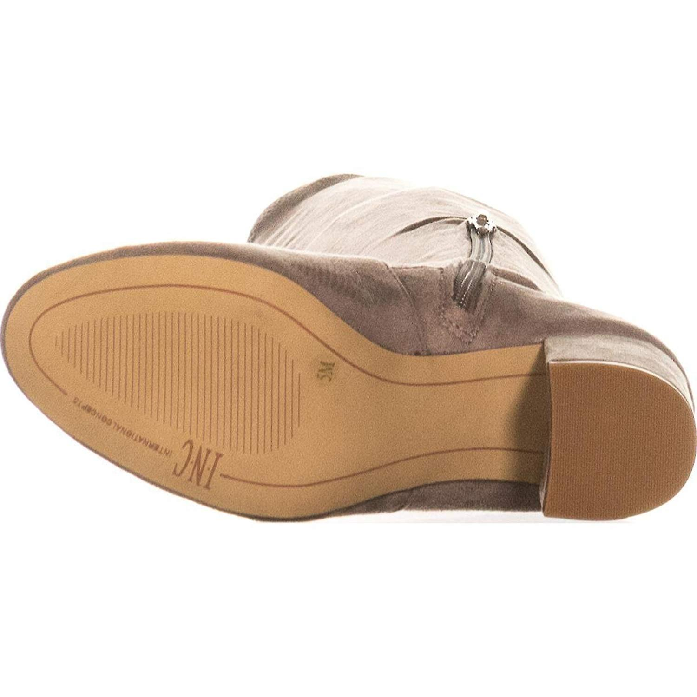 Rikkie INC międzynarodowej koncepcji damskie zamszowe migdałów palców nad kolano mody B.... RLJO5