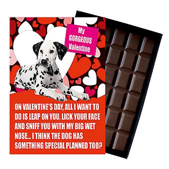 Dalmatian Gift for Valentines Day Presents For Dog Lovers Boxed Chocolate