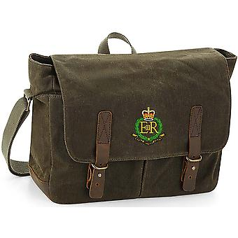 Royal Military Police - Licensed British Army Embroidered Waxed Canvas Messenger Bag