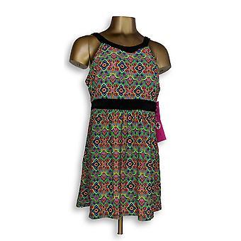 Fit 4 U badpak Hi nek Dresskini Bright groen/zwart A304230