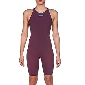 Arena Powerskin R Evo One Kneesuit Red Wine Turquoise
