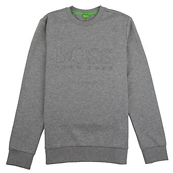 Hugo Boss Salbo preget logo Crewneck Pullover grå