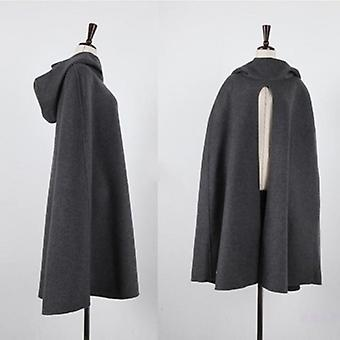 Cloak Batwing Turtleneck Poncho Irregular