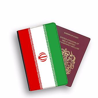 IRAN Flag Passport Holder Style Case Cover Protective Wallet Flags design