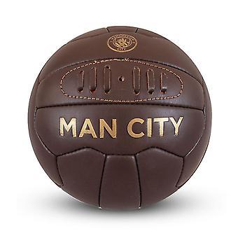 Manchester City FC Retro Leather Heritage Mini Ball