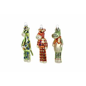 Gisela Graham Set of Glass 'Toy' Decorations | Gifts Handpicked