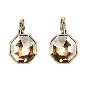 Traveller drop earring - Hexagon - 22ct gold palted - 156960