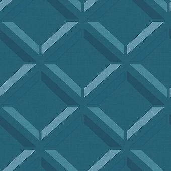 Kaleidoscope Lana geo wallpaper Teal Holden 90592